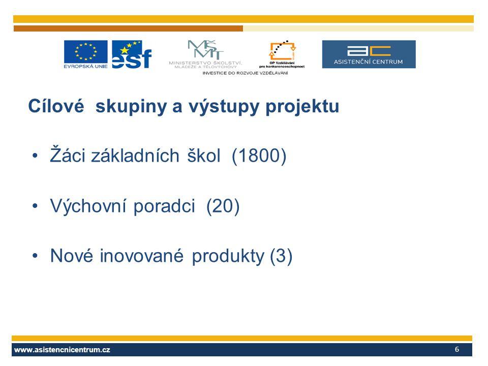 Cílové skupiny a výstupy projektu
