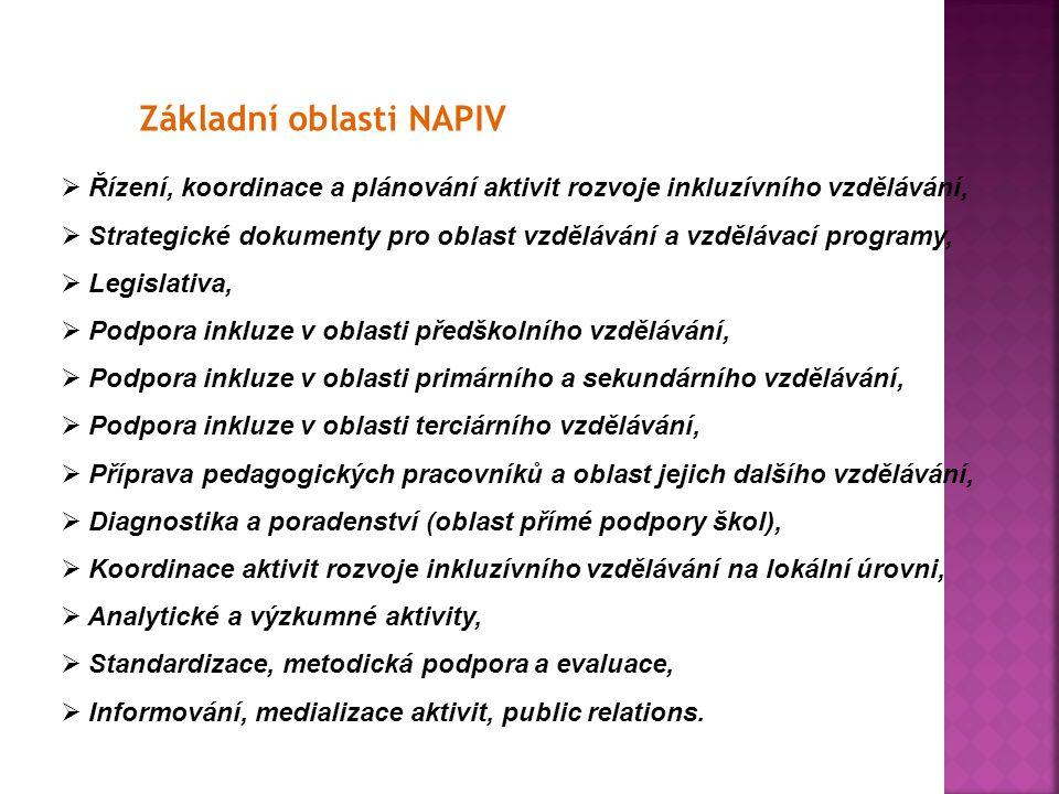 Základní oblasti NAPIV