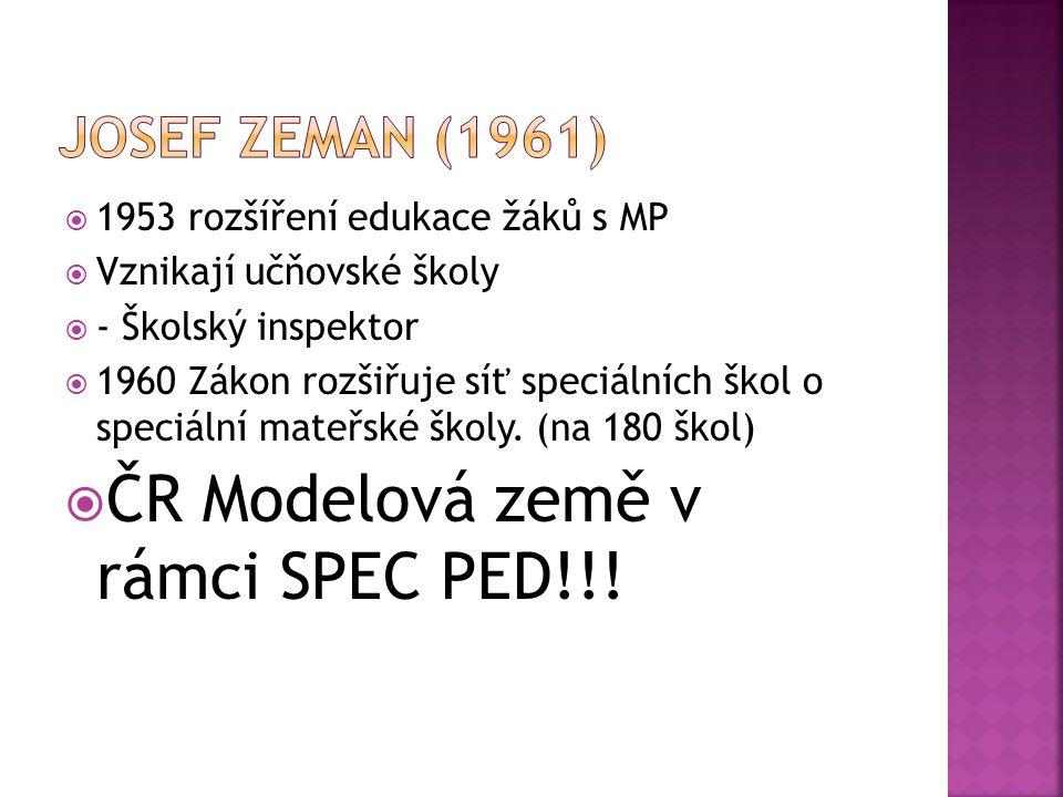 ČR Modelová země v rámci SPEC PED!!!