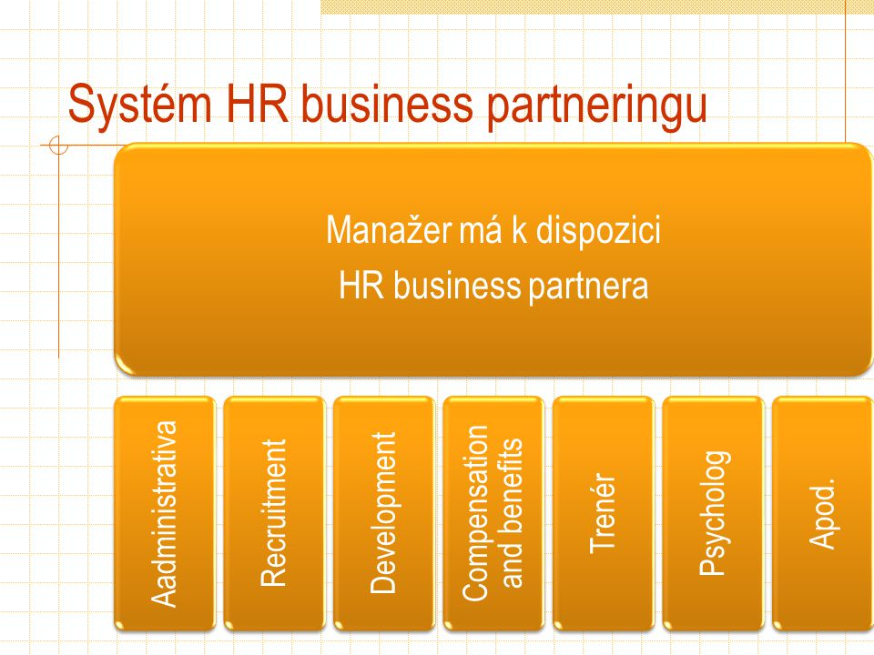 Systém HR business partneringu