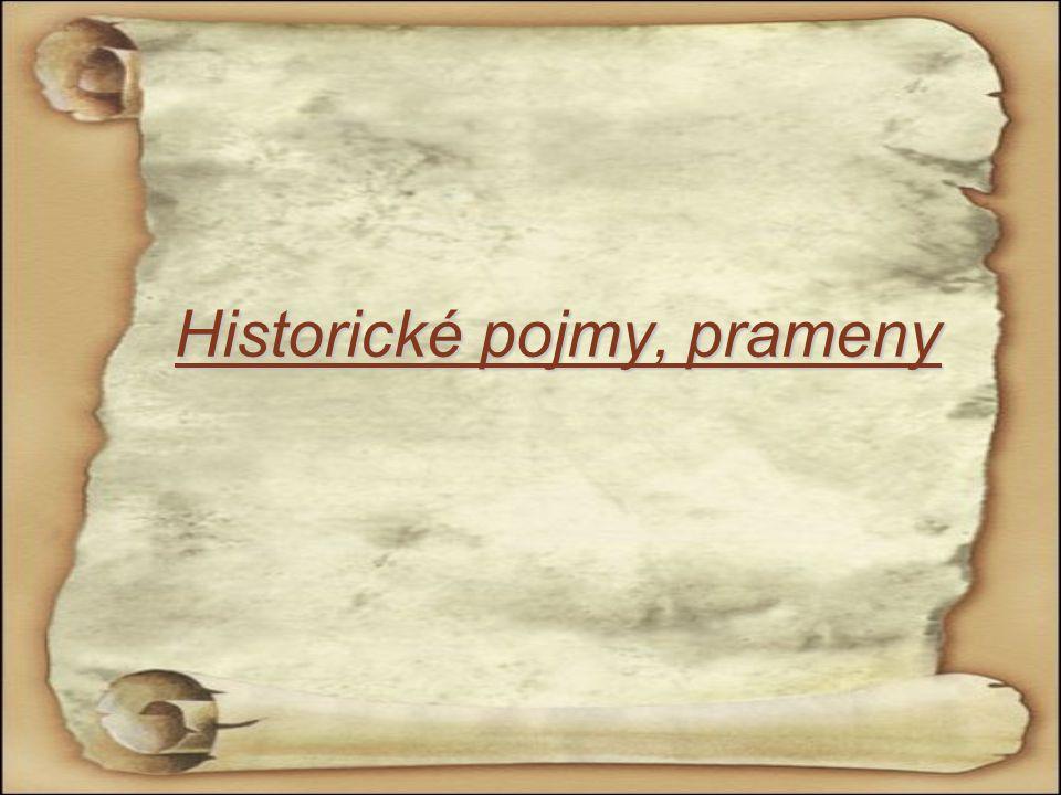Historické pojmy, prameny
