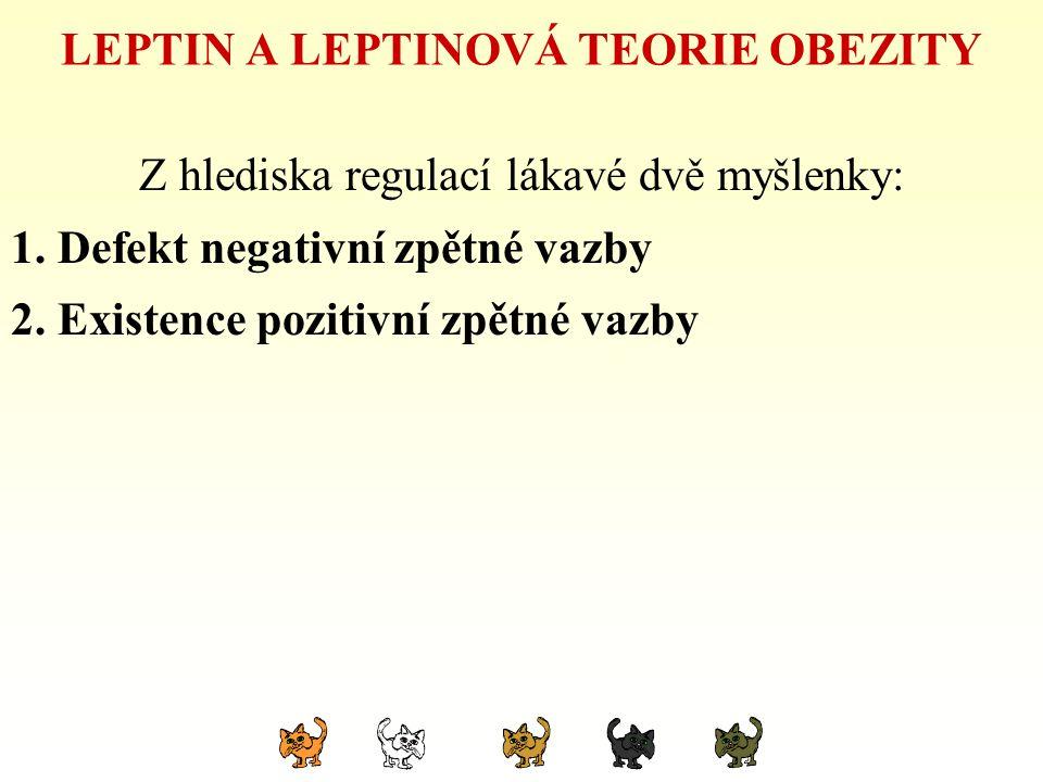 LEPTIN A LEPTINOVÁ TEORIE OBEZITY