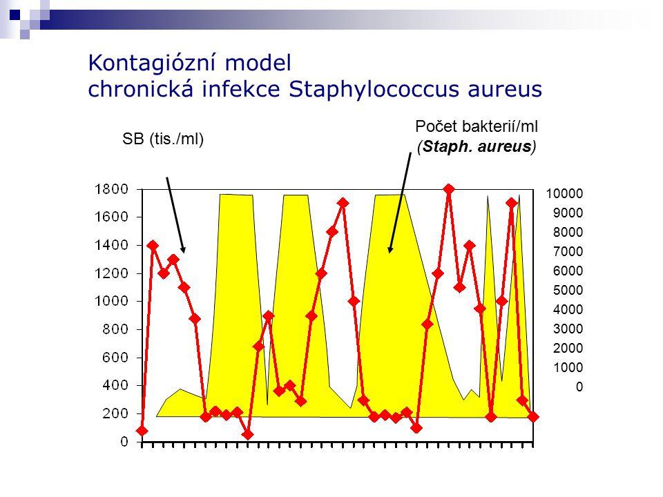 Kontagiózní model chronická infekce Staphylococcus aureus