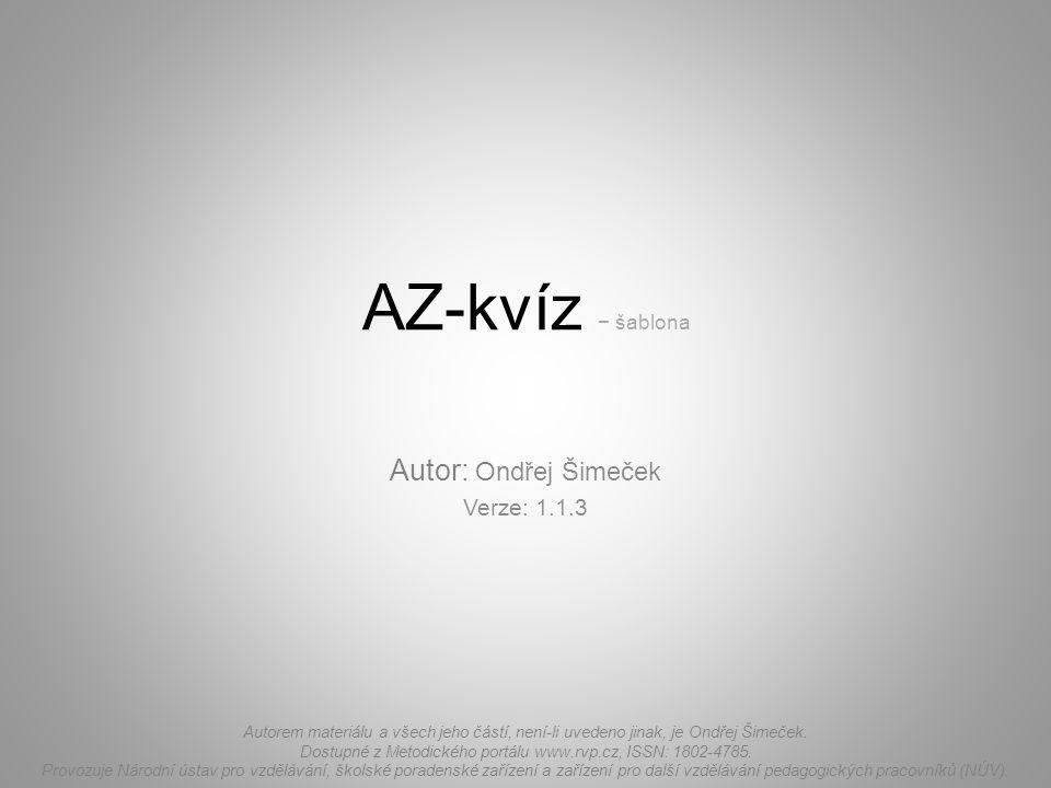 Autor: Ondřej Šimeček Verze: 1.1.3