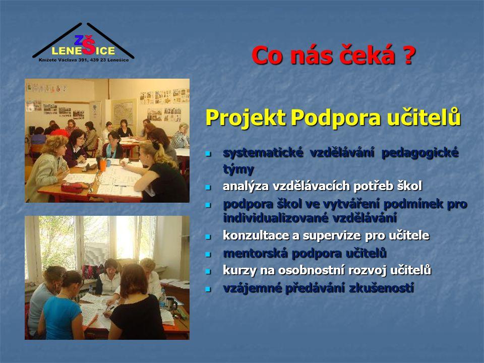 Co nás čeká Projekt Podpora učitelů