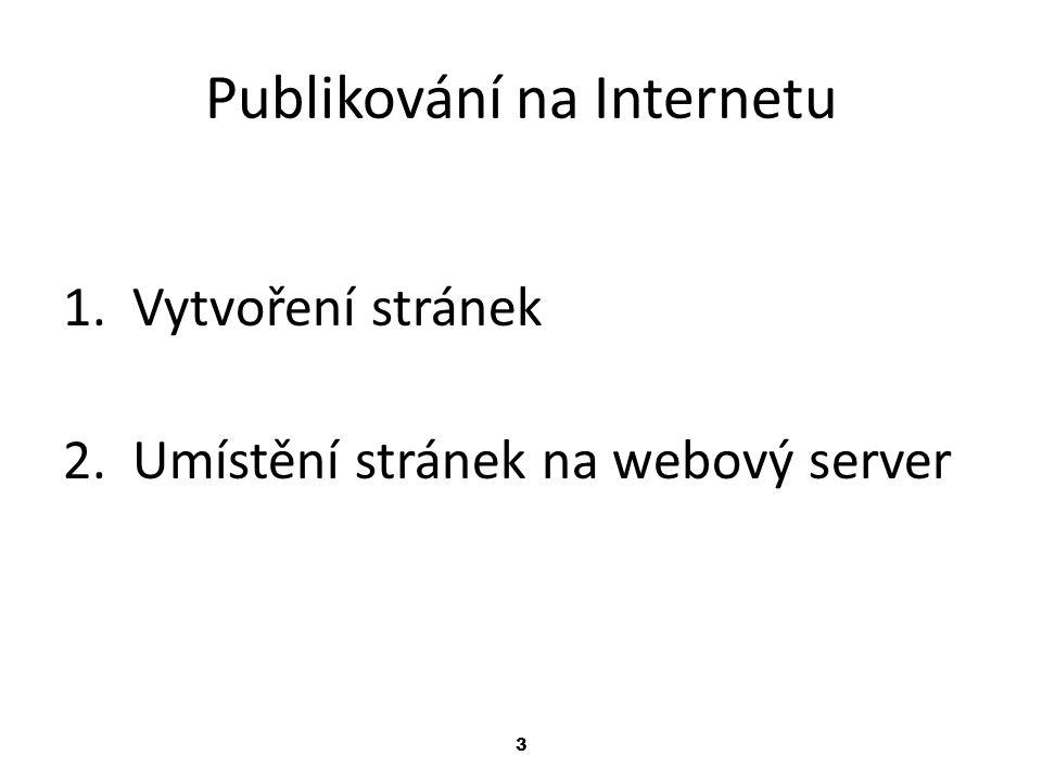 Publikování na Internetu