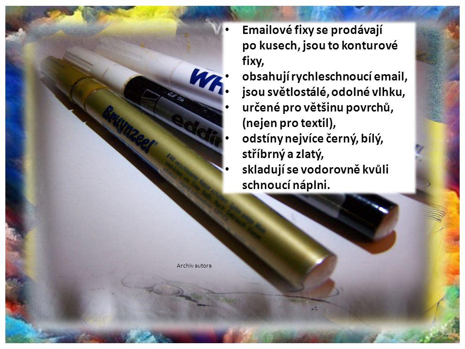 Fixy emailové na různé povrchy