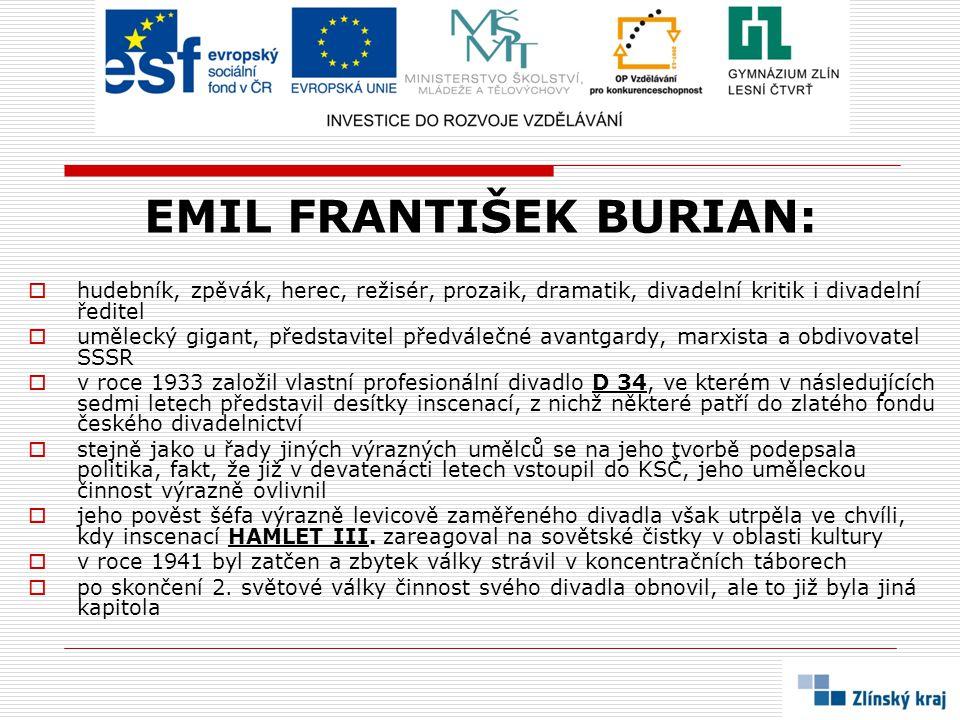 EMIL FRANTIŠEK BURIAN: