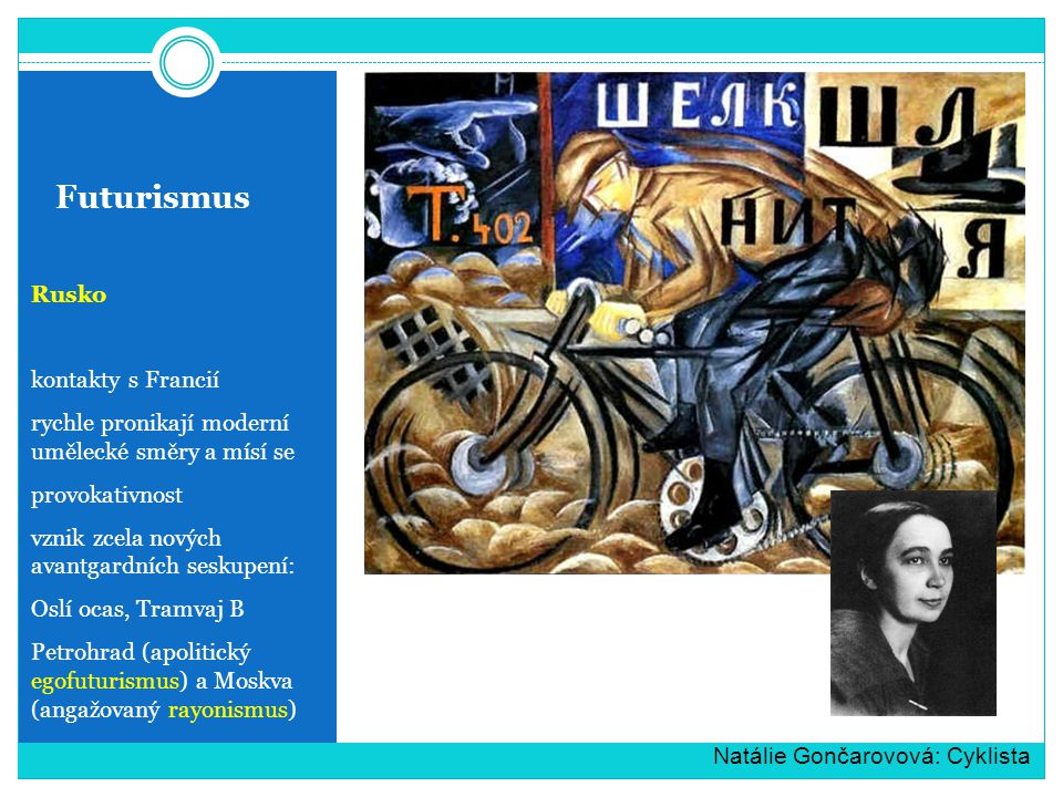 Futurismus Rusko kontakty s Francií