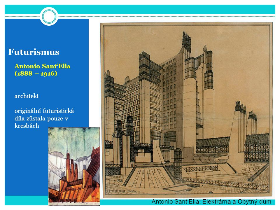 Futurismus Antonio Sant'Elia (1888 – 1916) architekt