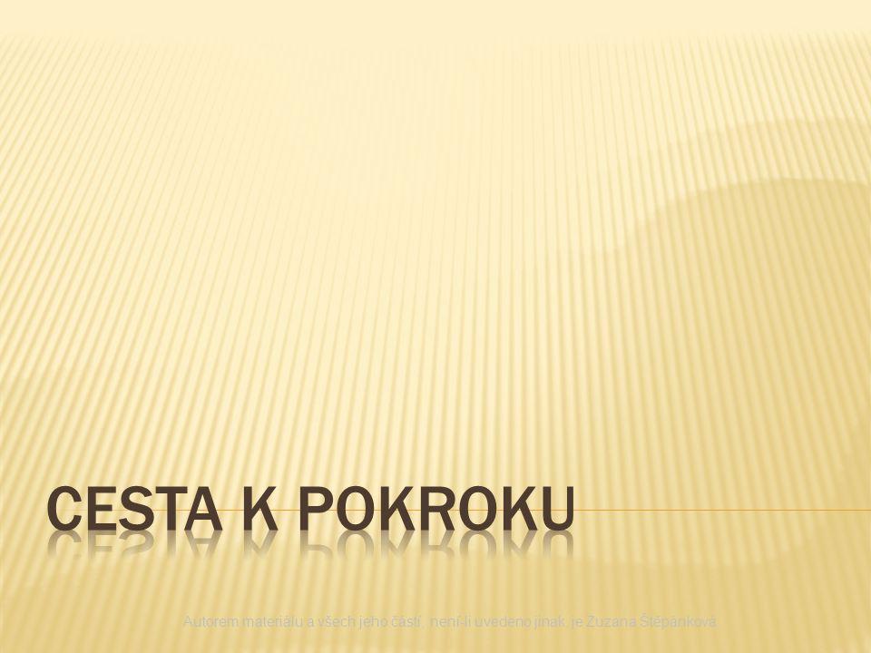 CESTA K POKROKU Autorem materiálu a všech jeho částí, není-li uvedeno jinak, je Zuzana Štěpánková