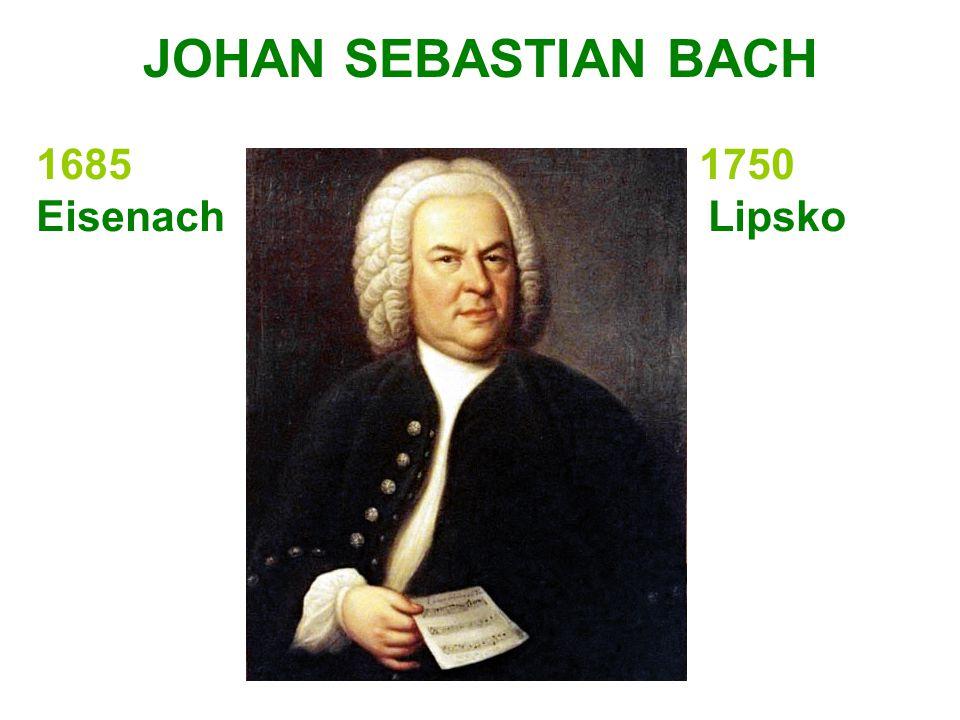 JOHAN SEBASTIAN BACH 1685 1750.
