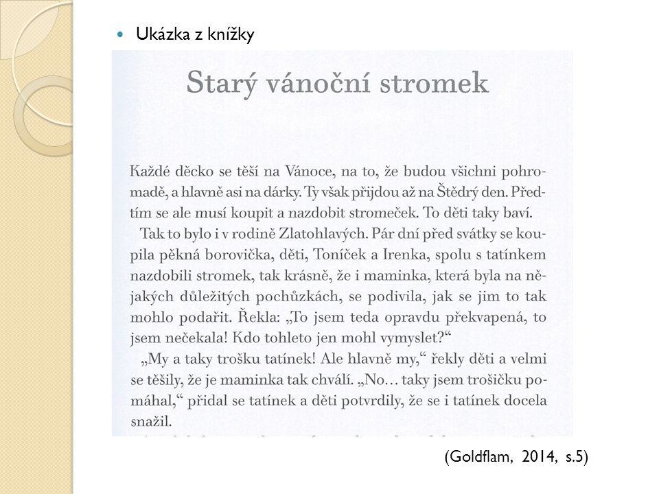Ukázka z knížky (Goldflam, 2014, s.5)