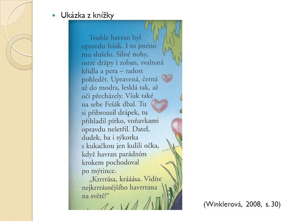 Ukázka z knížky (Winklerová, 2008, s. 30)