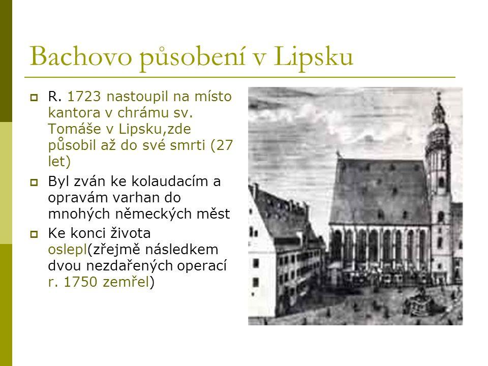 Bachovo působení v Lipsku
