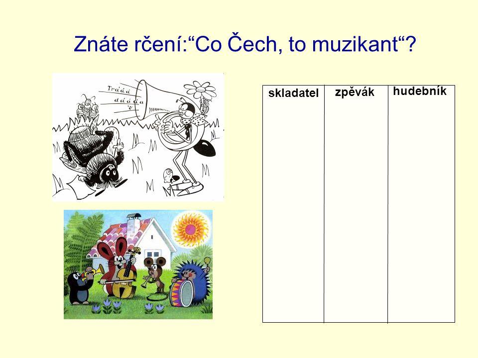 Znáte rčení: Co Čech, to muzikant