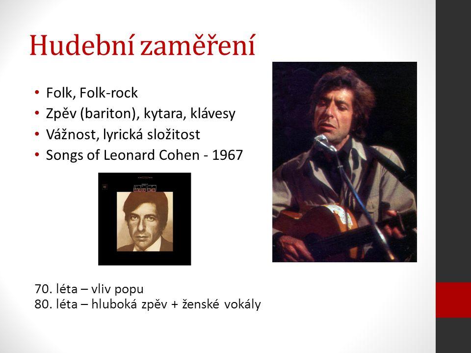 Hudební zaměření Folk, Folk-rock Zpěv (bariton), kytara, klávesy