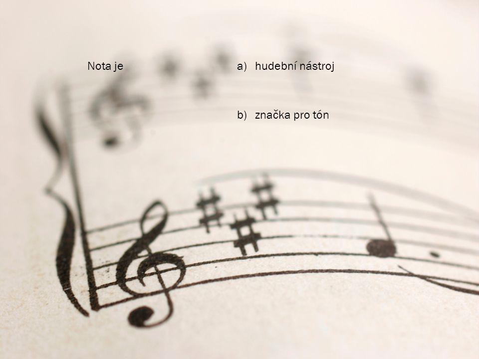 Nota je hudební nástroj značka pro tón