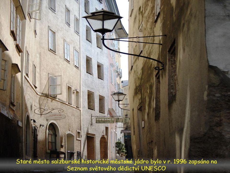 Staré město salzburské historické městské jádro bylo v r