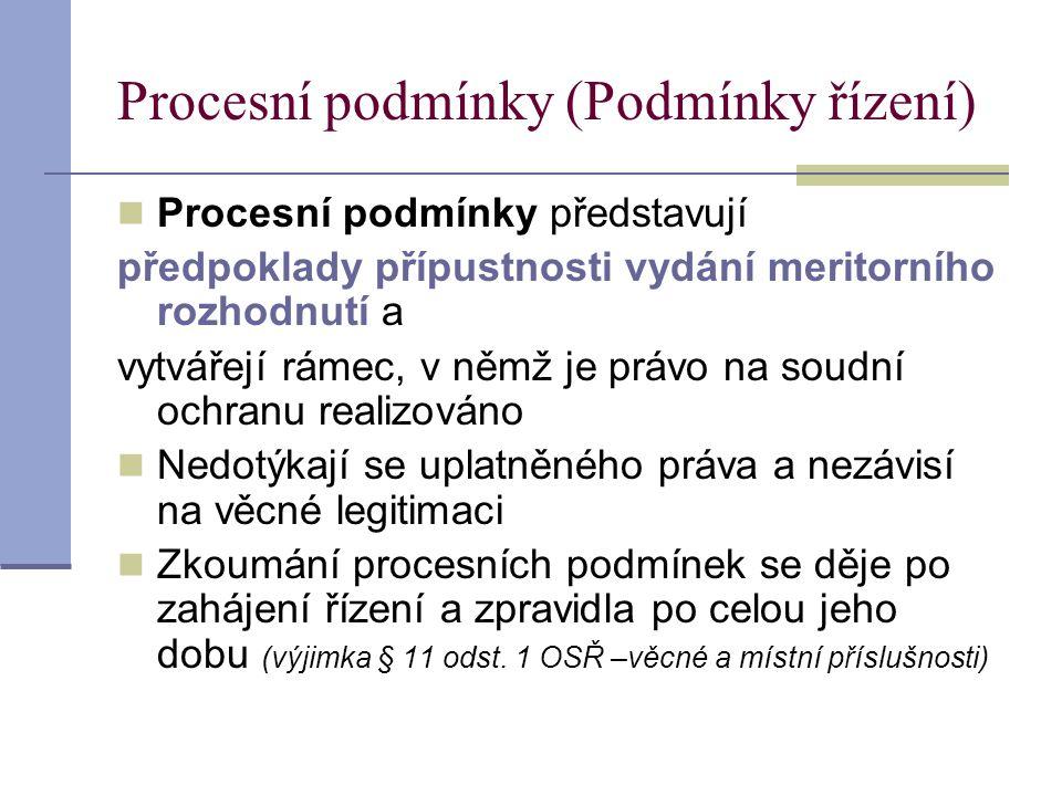 Procesní podmínky (Podmínky řízení)