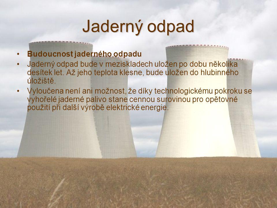 Jaderný odpad Budoucnost jaderného odpadu