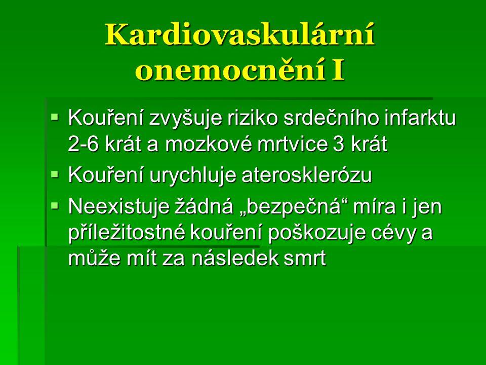 Kardiovaskulární onemocnění I