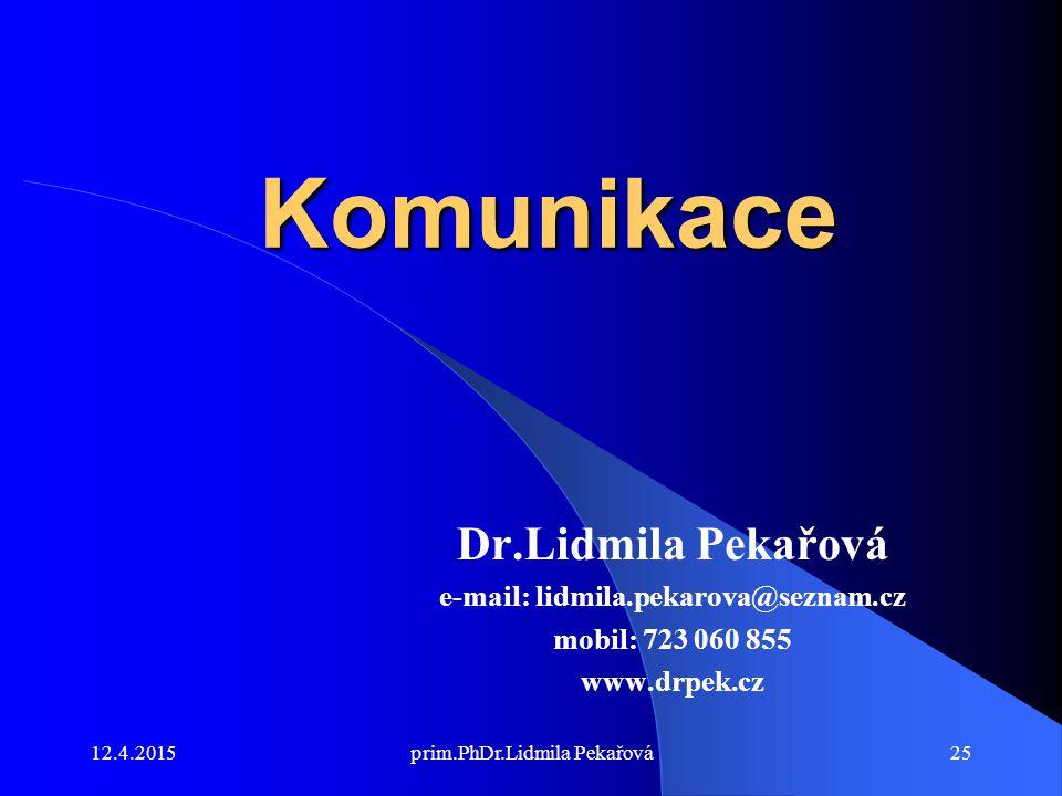 e-mail: lidmila.pekarova@seznam.cz