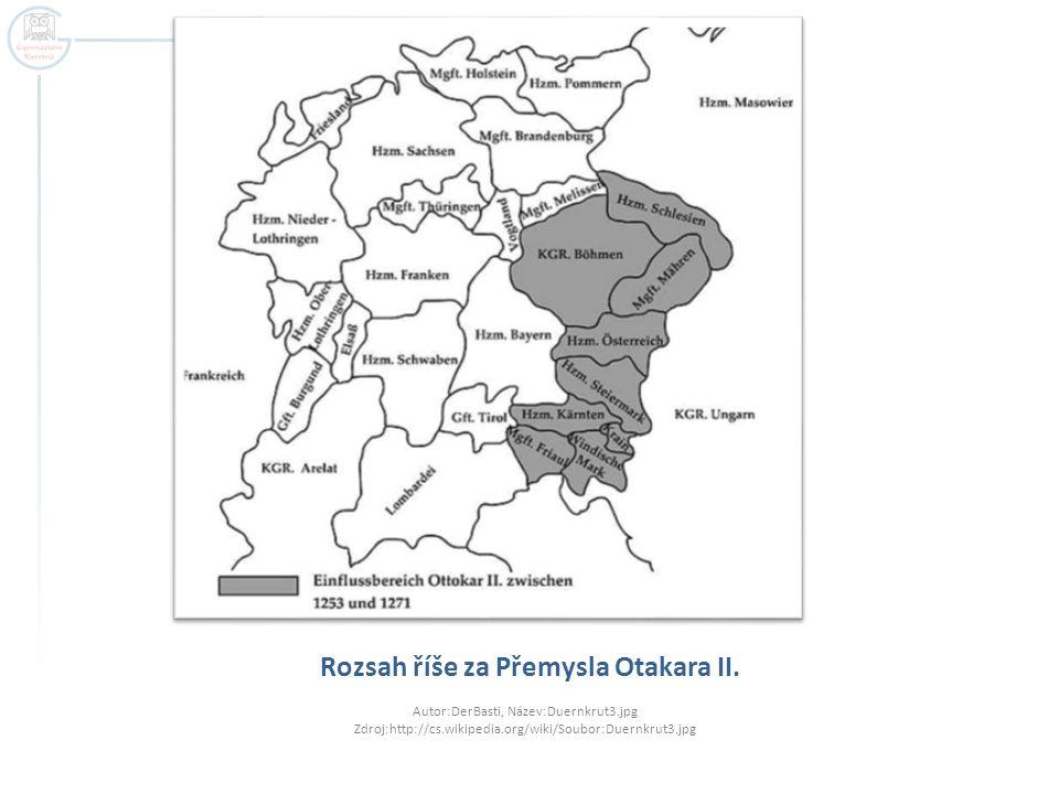 Rozsah říše za Přemysla Otakara II.