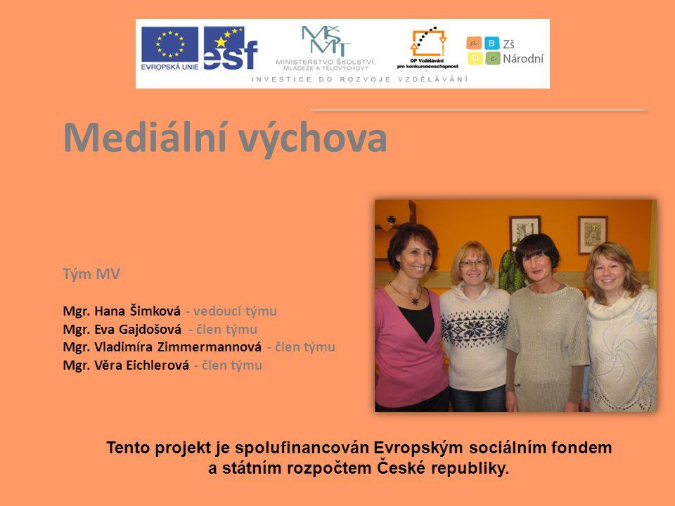 Tento projekt je spolufinancován Evropským sociálním fondem