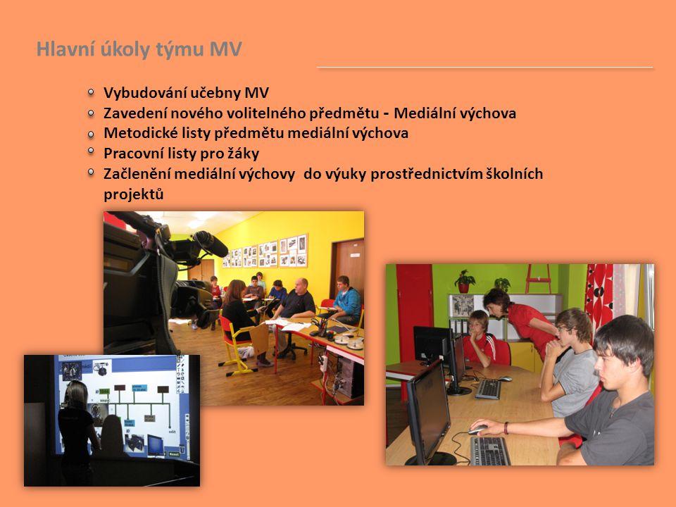 Hlavní úkoly týmu MV. Vybudování učebny MV