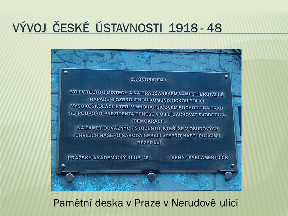 Vývoj české ústavnosti 1918 - 48