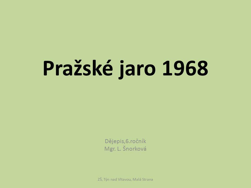 Dějepis,6.ročník Mgr. L. Šnorková