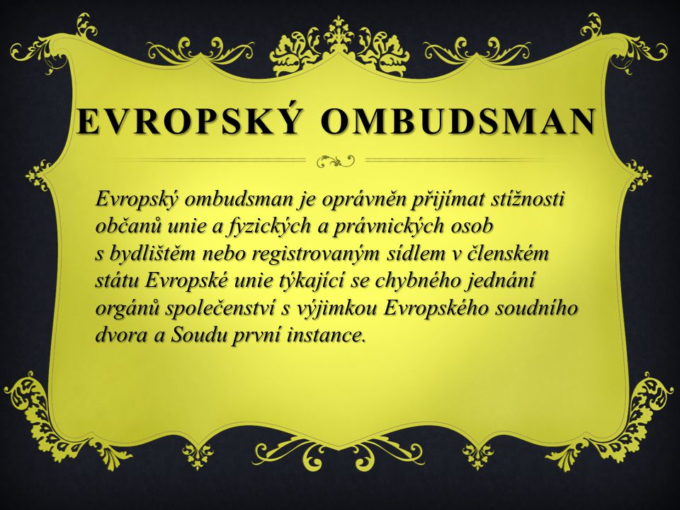 Evropský ombudsman