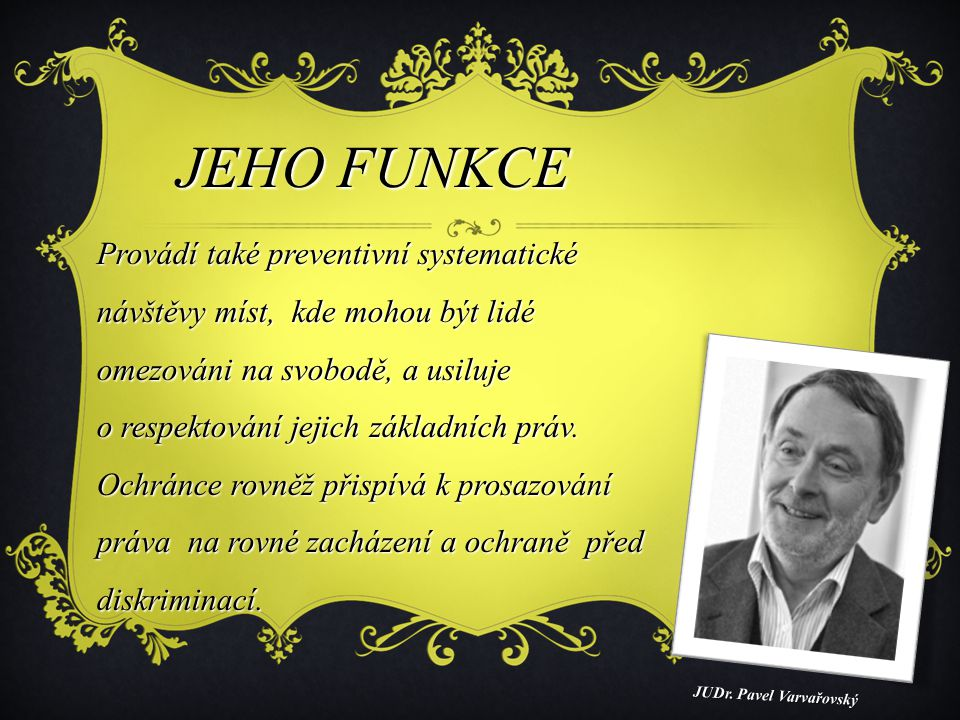 JEHO FUNKCE