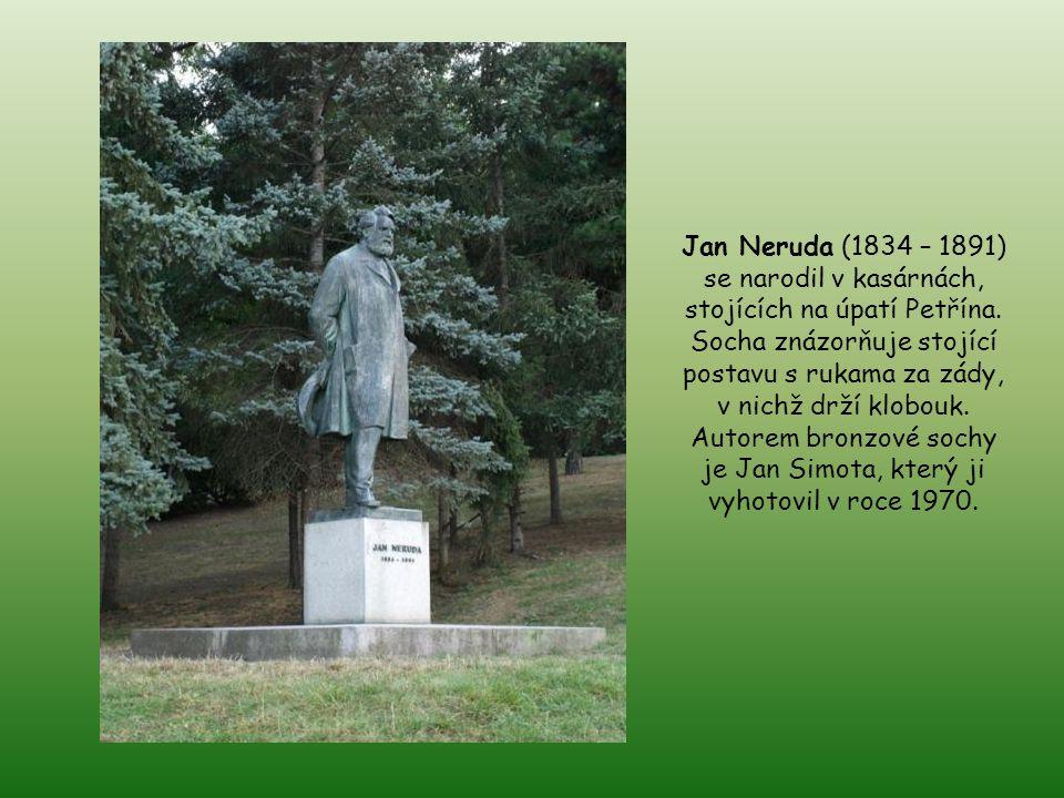 Jan Neruda (1834 – 1891) se narodil v kasárnách, stojících na úpatí Petřína.