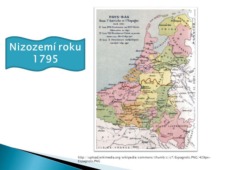 Nizozemí roku 1795 http://upload.wikimedia.org/wikipedia/commons/thumb/c/c7/Espagnols.PNG/429px-Espagnols.PNG.