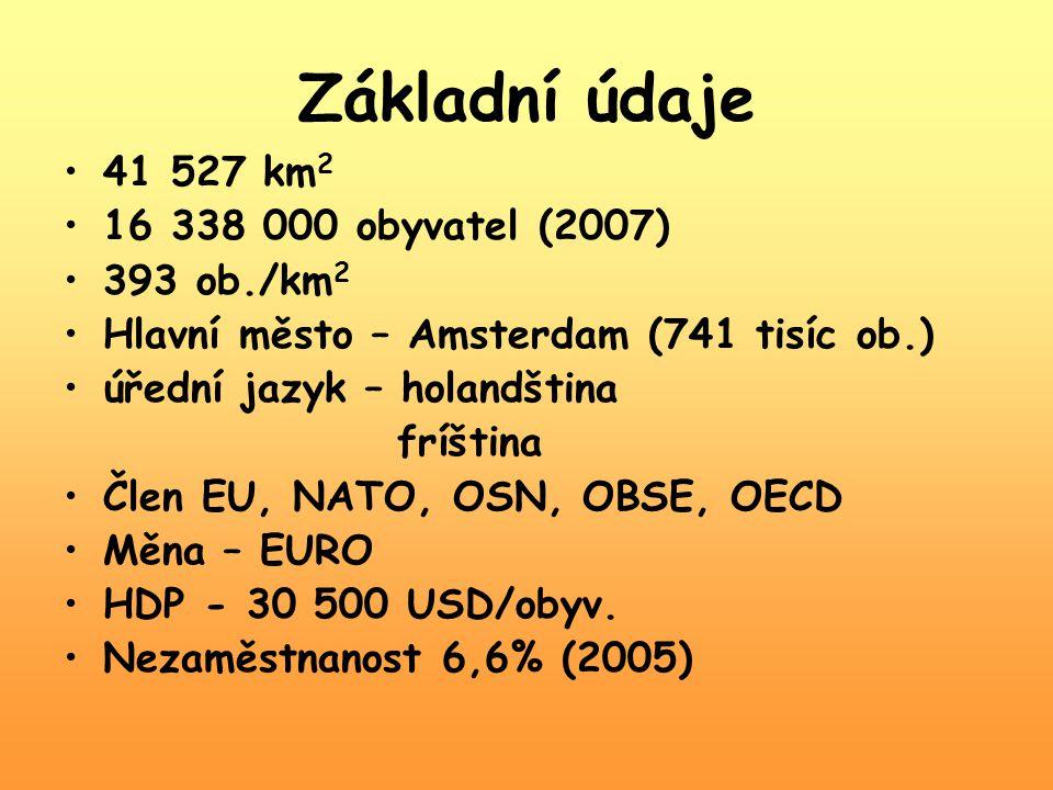 Základní údaje 41 527 km2 16 338 000 obyvatel (2007) 393 ob./km2