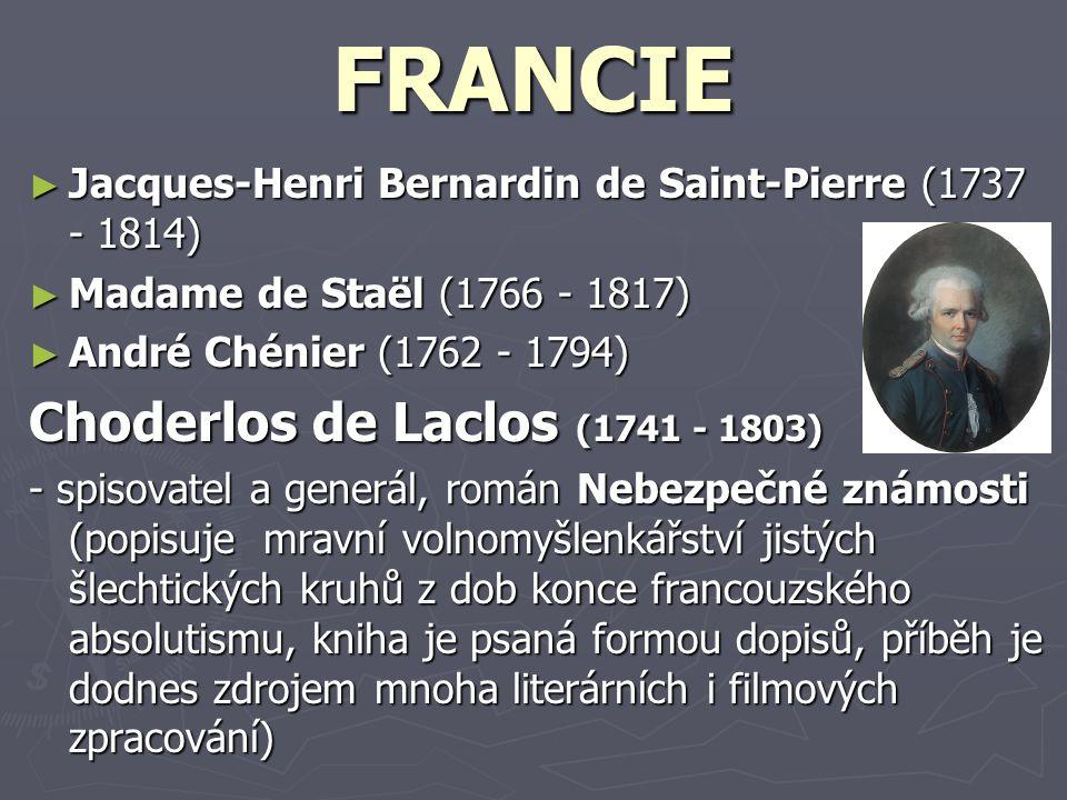 FRANCIE Choderlos de Laclos (1741 - 1803)