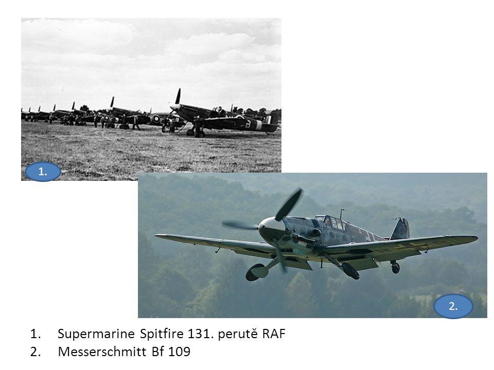 Supermarine Spitfire 131. perutě RAF Messerschmitt Bf 109