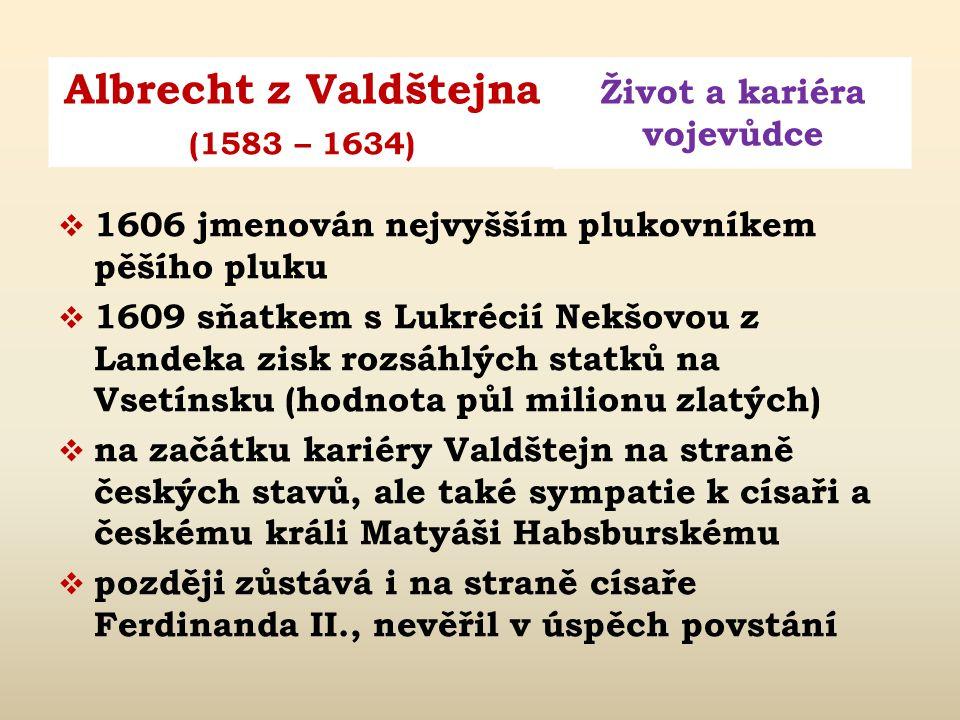 1606 jmenován nejvyšším plukovníkem pěšího pluku
