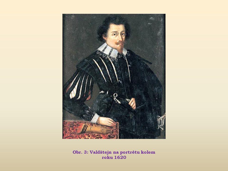 Obr. 3: Valdštejn na portrétu kolem roku 1620