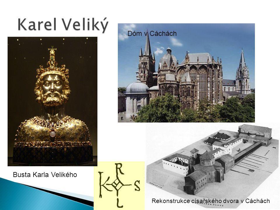 Karel Veliký Dóm v Cáchách Busta Karla Velikého