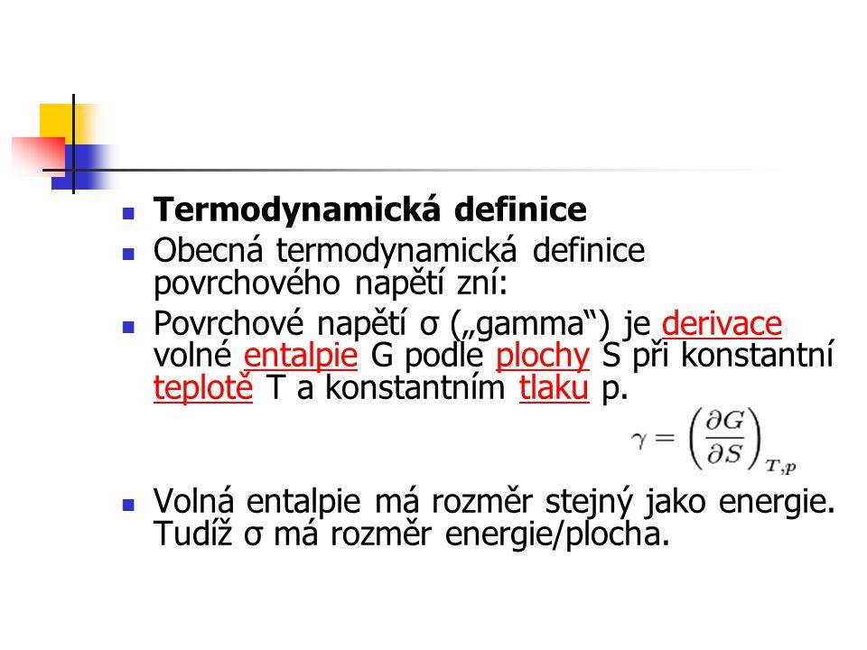 Termodynamická definice