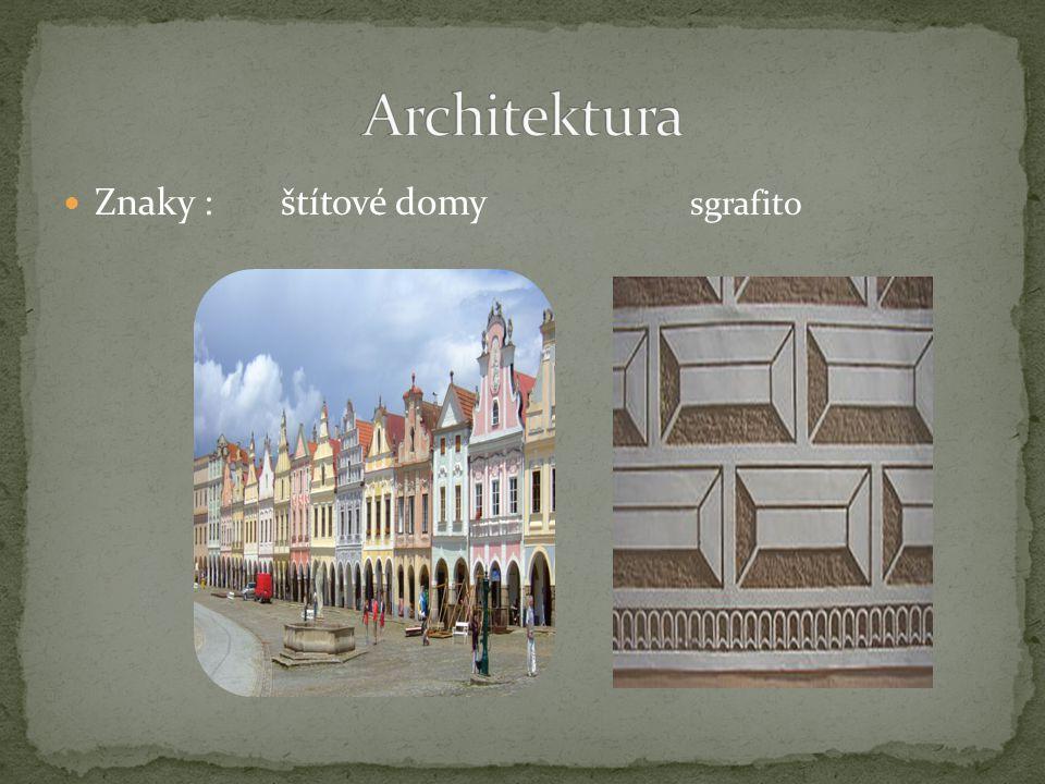 Architektura Znaky : štítové domy sgrafito