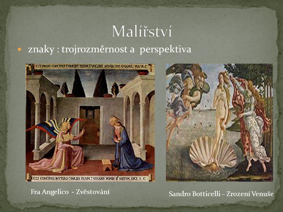 Malířství znaky : trojrozměrnost a perspektiva