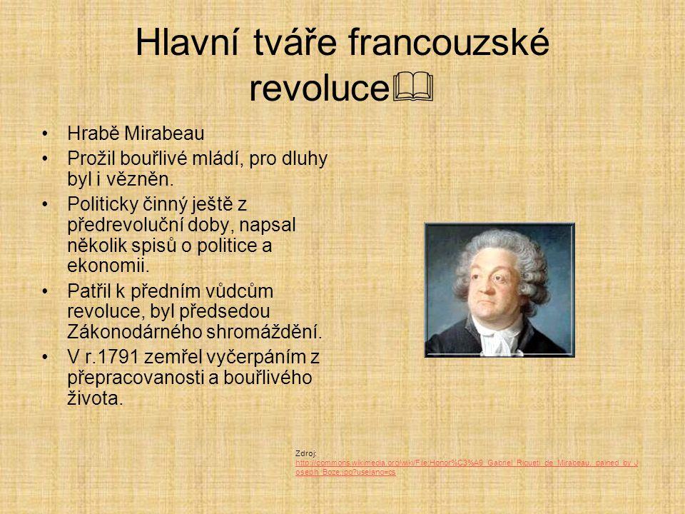 Hlavní tváře francouzské revoluce