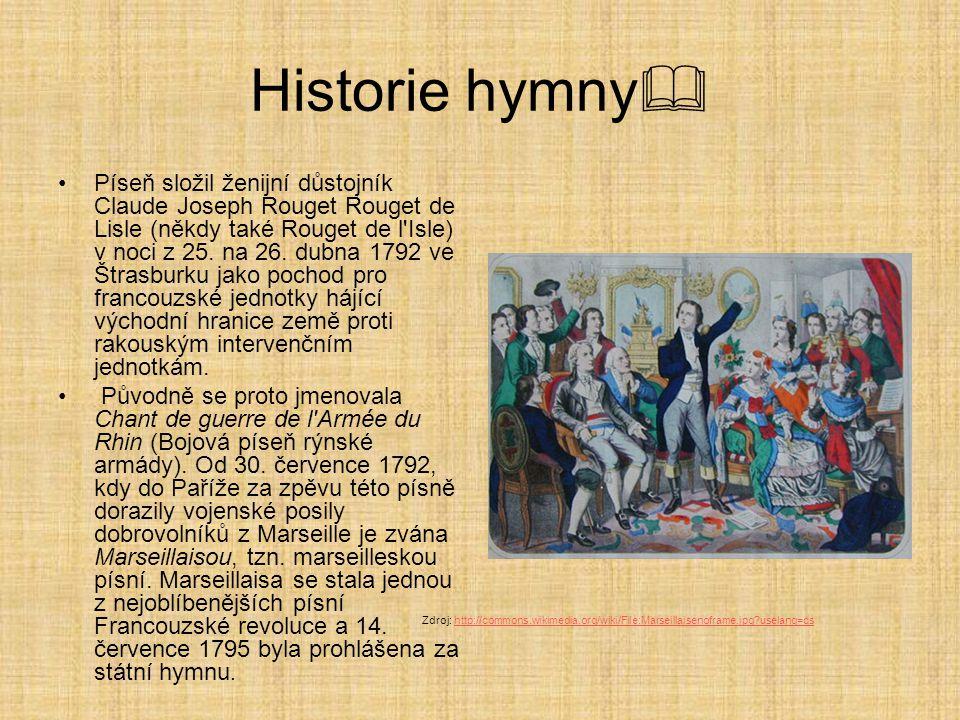 Historie hymny