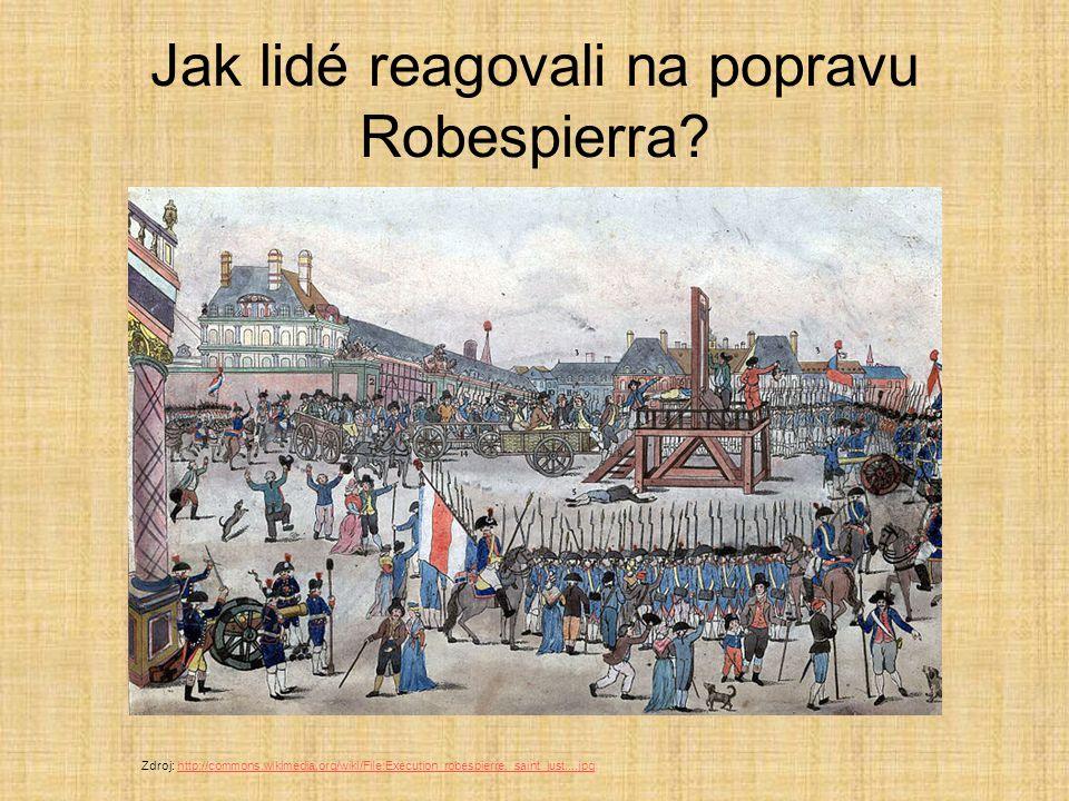 Jak lidé reagovali na popravu Robespierra