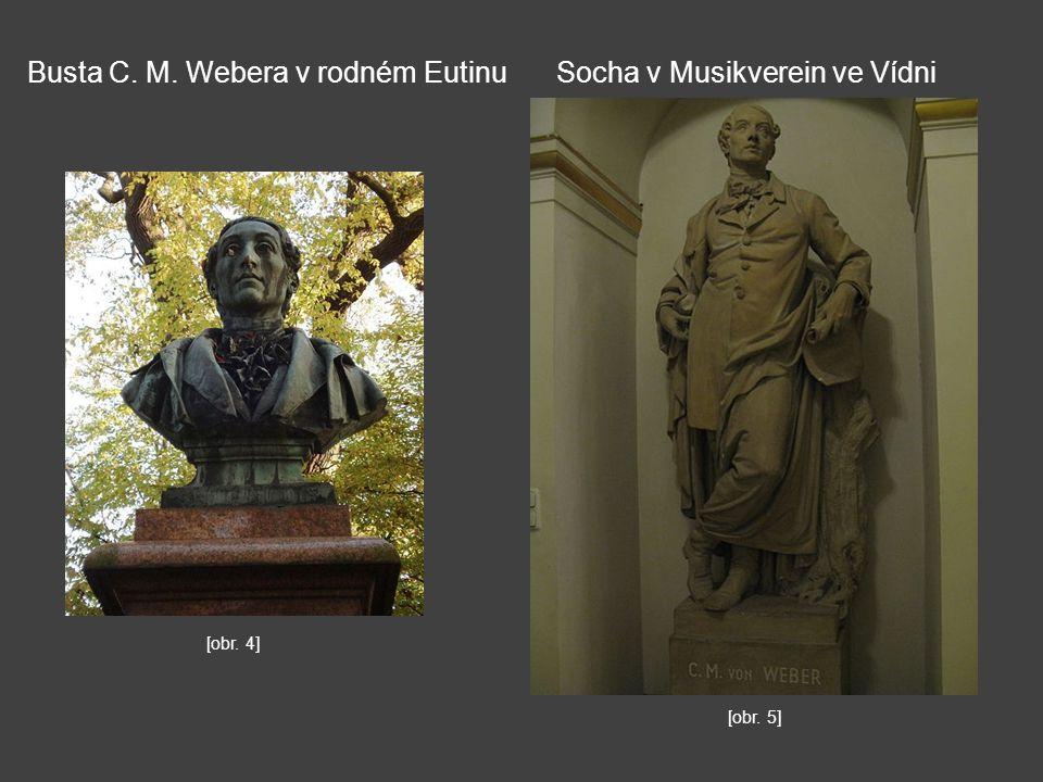 Busta C. M. Webera v rodném Eutinu Socha v Musikverein ve Vídni