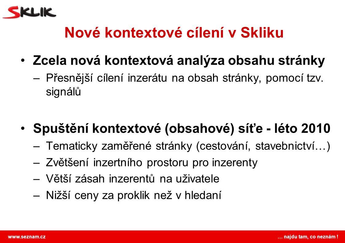 Nové kontextové cílení v Skliku